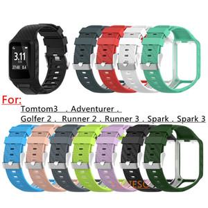 TomTom 2 Için yeni Silikon Yedek Watchband Bilek Bandı Kayışı 3 Serisi Koşucu 2 3 Spark Serisi Golfçü 2 Adventurer GPS İzle