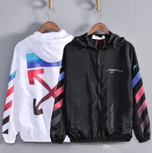 Mens Sun Protection Clothing OW Student Creative Print Jacket Jacket Top Couple Love Hooded Thin Sun Protective Clothing
