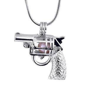 الجملة بندقية شكل لؤلؤة جوهرة الخرز قفص المناجد المعلقات، والحب الرغبات عقد من اللؤلؤ قلادة أطر للقلادة DIY مجوهرات
