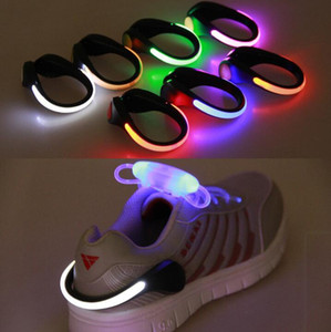LED Luminous Shoes Clip Light Night Safety Warning Night Running Shoe Safety Clips Cycling Sports Warning Light Party Favor GGA3124