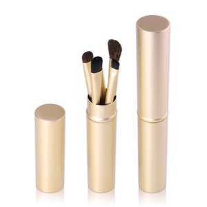 5pcs Makeup Brushes Set Powder Blush Foundation Eyeshadow Eyeliner Lip Cosmetic Brush Kit Beauty Tools With Gold Tube