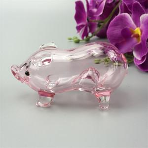 Verre fumant la pipe rose porcs pipes cuillère verre fabriqué à la main mini-pipe en verre tuyaux main de bongs narguilé
