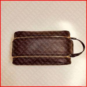 KING SIZE BEAUTY BORSA M47528 25 Designer modo degli uomini di s Donne s cosmetici igienici sacchetto di lusso di Beauty Case Pochette Accessoires Borsa kit N47527
