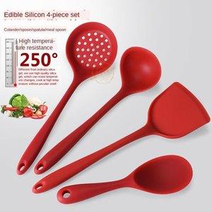 Kitchen Tools Silicone Kitchenware 4-piece Set Cooking Spoon Shovel Non-stick Pan Shovel Spoon Set Kitchen Utensils