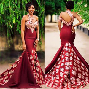 Burgundy Evening Dresses Long Mermaid One Shoulder Evening Formal Dress Vestidos De Noiva Long Mermaid Women Evening Dress Long