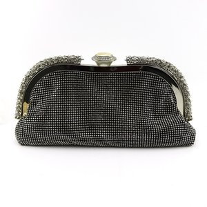 black Crystal Evening Clutch Bags Bridal Diamond Handbags Wedding Party Cocktail Purses
