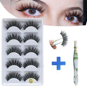MB 6D morbido 5 coppie visone ciglia capelli capelli fatti a mano per le donne lunghe ciglia finte ciglia finto cills naturali natura ciglia strumenti per il trucco degli occhi ciglia
