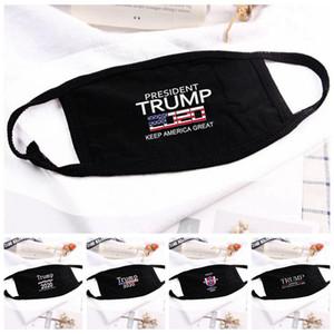 Máscara pronto Trump face EUA Presidente americano Eleição Cotton Mouth Trump 2020 Máscaras desenhista do partido Capa Protetora Facial letra impressa