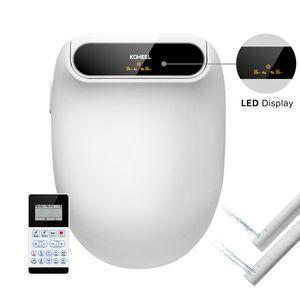 LED 디스플레이 스마트 변기 전기 비데 더블 노즐 커버 지능형 온수 세탁 드라이 마사지 스마트 변기 뚜껑