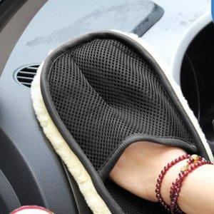 1Pc Reinigung Handschuhe waschbar Pflege Imitation Wolle Autowaschhandschuh 25 * 17cm Autoreinigungsbürste Motorrad Haushalt Werkzeuge