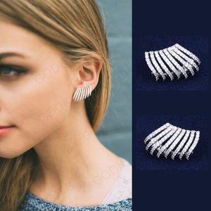 GODKI Elegant Griffes PARFAITEMENT Pour Lobe cubique Zircon Dubaï Boucles d'oreilles pour les femmes de mariage boucle d'oreille CX200706