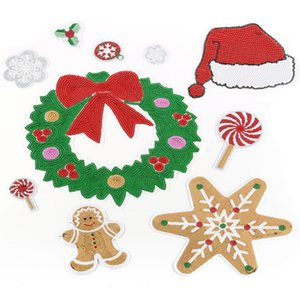 New Sequins Christmas Decoration Patch for Sewing on DIY ClothesT-shirt Friend Party