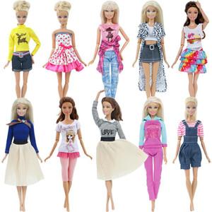الأزياء حزب اليدوية ذات جودة عالية اللباس زينة ملابس للدمية باربي القماش عيد الميلاد طفلة لعب سروال التنورة