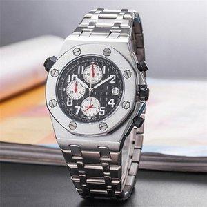 2020 Royal Luxury Designer orologio al quarzo in acciaio inossidabile Orologio automatico Data Guarda Tutte le funzioni funzionano correttamente FR