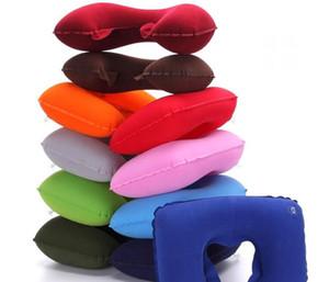 Coussin gonflable d'air de repos de tête de voiture de cou d'U de forme de U de PVC gonflable pour le bureau de voyage