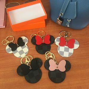 Designer Keychains PU Leather Animal Bag Pendant Charm Girls Cars Keyrings Chains Holder Fashion Women Key Ring Jewelry Gift