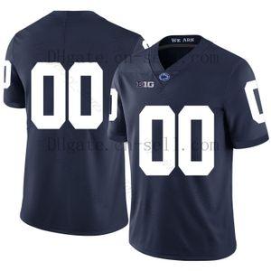Настроить 2019 Penn State Nittany Lions PSU футбол любое имя номер темно-синий белый Saquon Barkle #26 Hamler Parsons Freiermuth NCAA Джерси