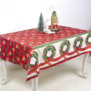 زينة عيد الميلاد الجدول القماش السنة الجديدة عيد الميلاد 3D البوليستر المطبوعة مفرش المائدة المضادة للحشف المنزلية الجدول تغطية XD22620