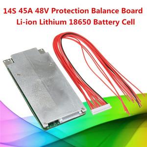 Freeshipping 1PC 14S 45A 48 V batteria al litio 18650 batteria al litio BMS PCB protezione Balance Integrated Circuits Board