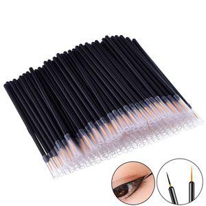 50 Professional Beauty Makeup Eyeliner Brushes With Cap Fine Nylon Hair Make Up Brush Disposable Fiber Eyeliner Brush