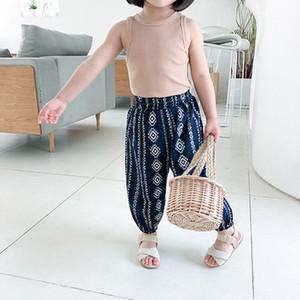 Pantalons enfants filles New Anti-moustiques Pantalons enfants Designer Harem-pantalon filles marque Imprimer Pantalons Mode Bohême Sarouel-2020 Nouveaux