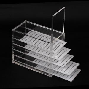 5 Layer Ресницы Extension Storage Box Акриловые Lash держатель поддонов для индивидуального Объем Lash Extension Display Stand Makeup Tools