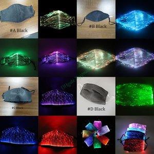 LED Light up Rave Mask Designer masque facial masques réutilisables masque facial Masques lumineux pour Glowing Party Festival de danse cadeaux, 7 couleurs DHL