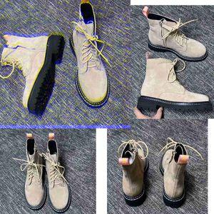 Botas Martin de moda de gamuza de vaca para mujer con botas Martin cortas importadas para mujer