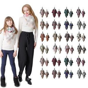 Eltern-Kind Plaid Pashmina Schal Fashion Mom Kids Übergroße Tartan Wrap Schal Outdoor Quaste Dreieck Schals Warme Decke LJJT1435