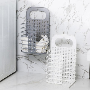 Cesti per la biancheria Parete lavanderia Borse pieghevole giocattoli Deposito Box sporco Clothes Organizer lavaggio Borse Bianco Grigio opzionale XH3079