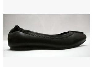 2019 venda quente Mocassim Loafers Famoso Designer de Viagem Apartamentos de Baile de Fivela de Metal Ballet Flats Mulheres Pele De Carneiro Sapatos de Couro Genuíno com caixa