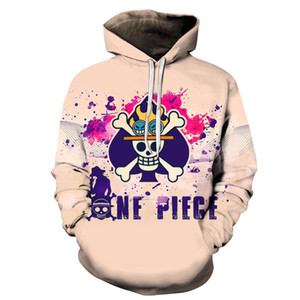 힙합 ONE PIECE 인쇄 3D 운동복 후드 남성 여성 애니메이션 디자인 스트리트 긴 소매 후디를 들어 남성 스웨터 남자 자켓