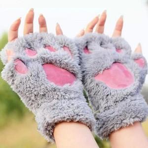 peluche peluche gants mitaines Halloween étape de Noël effectuer prop cosplay chat ours Paw griffe gant faveurs du parti griffe patte peluche mitaines
