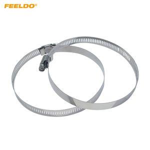 FEELDO 2PCS rapide Joint Pull Bague avec vis de réglage pour la voiture phares anti-poussière couverture 45mm-110mm # 6415