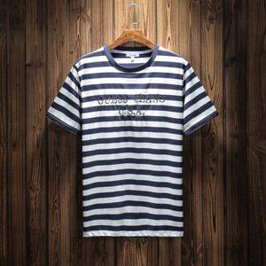 Fashion-Jeans USA T-shirt a righe da uomo T-shirt da donna con ricamo a maniche corte T-shirt con maniche lunghe