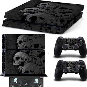 해골 새로운 스타일 스킨 스티커 필름 커버 플레이 스테이션 4 PS4 콘솔 콘솔 장식 게임 액세서리 컨트롤러 + 2 개 해골 실리콘 C
