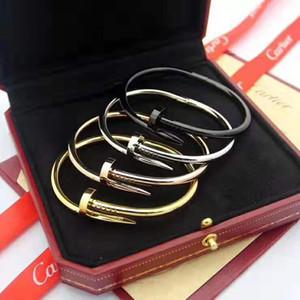 titânio pulseira de aço para mulheres Moda High-end de qualidade para senhoras belas jóias com ouro Rose Gold Silver com saco