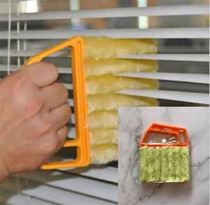 블라인드 클리너 유용한 마이크로 화이버 창 청소 브러시 에어 컨디셔너 살포기 미니 셔터 클리너 빨 수있는 클리닝 천 브러시 DA207
