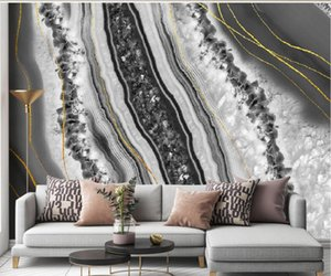 photo wall murals wallpaper Modern light luxury abstract crystal marble 3d wallpapers pattern background wall