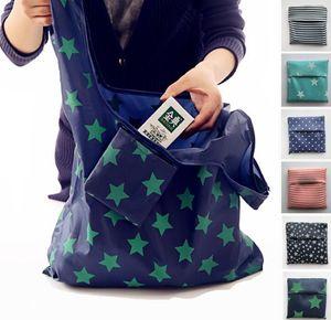 Stelle di stampa Eco Shopping Bags riutilizzabili Grocery Bag storage Eco Friendly Tote Bags