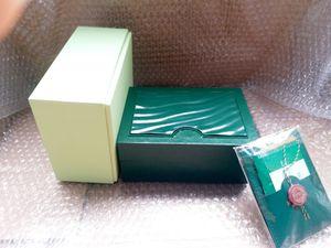 Все серии Оригинальные правильные бумаги роскошные лучшие зеленые подарочные сумки для коробок Rolex Boxes Booklets Watches бесплатная пользовательская печатная модель серийного номера карты