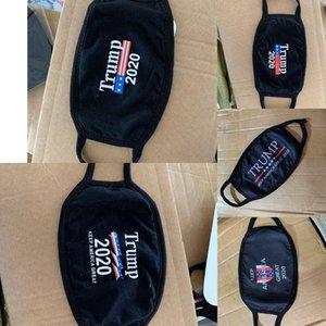 DHL'in 100pcs Tasarımcı Maskeler Trump Amerikan Seçim Malzemeleri Erkekler Kadınlara 5 stilleri için siyah yıkanabilir Maskesi yazdır toz geçirmez