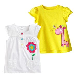 Vidmid Giysi Marka T-shirt Çocuk Giyim Hayvan Desen Kızlar Yaz Pamuk Çocuk T-Shirt Tavşan Tees Q190523 Tops