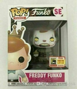 Xmas gift New 2019 Hot Funko Pop action Vinyl Figure Freddy Funko Pennywise SDCC LE4000 Brand New toy with Box