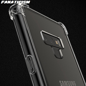 Case For Samsung M80s M60s M30s M20 Note 8 9 10 Plus Soft TPU Silicone Bumper Hybrid Hard PC Acrylic Clear Back Cover