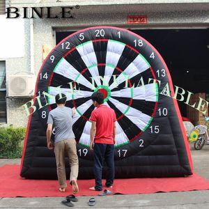 3m / 4m / 5m jeux de fléchettes de football gonflables géants planches / football fléchettes jeux, jeu de fléchettes de golf gonflable pour le plaisir