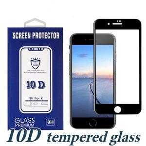 10D pour iPhone Nouveaux modèles XS MAX XR pleine colle cas amical en verre trempé Protection d'écran Samsung A20 A70 A50 A20E Moto G7 Power Play E5 P