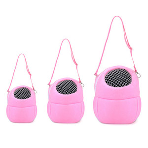 Pink Small Animal Carriers Coral Fleece Pet Hamster Accessory Chinchilla Bunny Product Hedgehog Plush House Squirrel Rabbit Cage