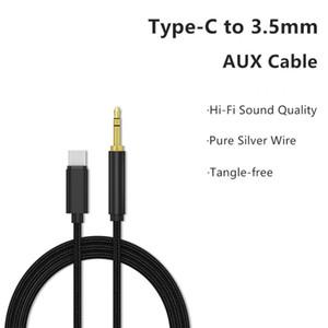 Tip-C / Car için Ios Erkek için 3.5mm Erkek Ses Adaptörü Kablosu Telsiz Telefon Dönüştürücü Bağlayıcı Kordon