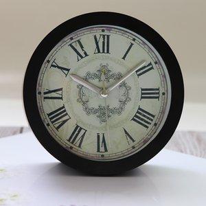 Ретро механические Настольные часы римские цифры despertador Silent Sweep классические цифровые часы белый / черный часы